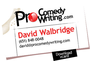 Pro Comedy Writing David Walbridge